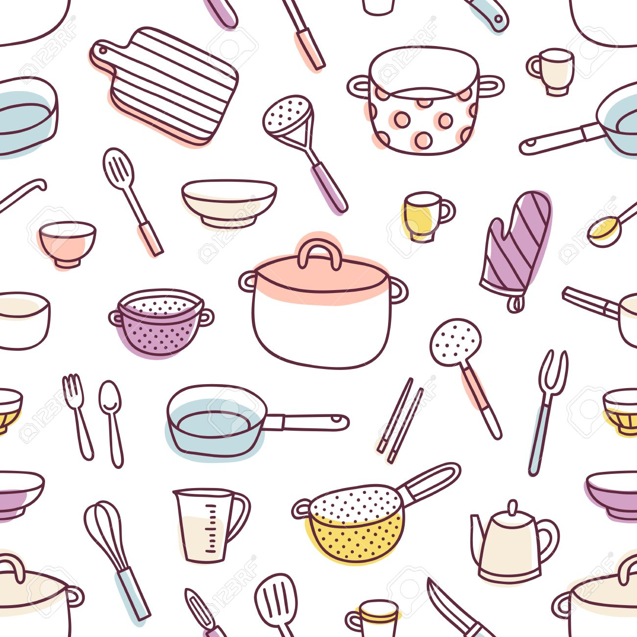 68,478 Kitchen Utensil Stock Vector Illustration And Royalty Free ...