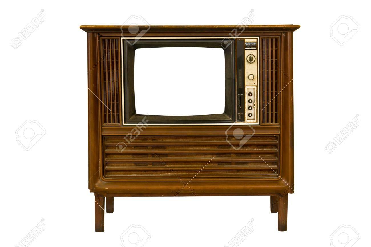 Retro Vintage television  on a white background Stock Photo - 9347600