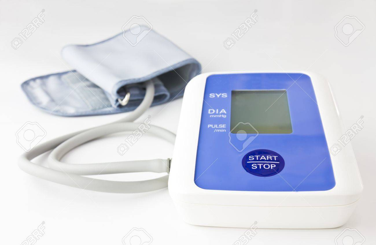 Automatic digital blood pressure  on white background Stock Photo - 10555605