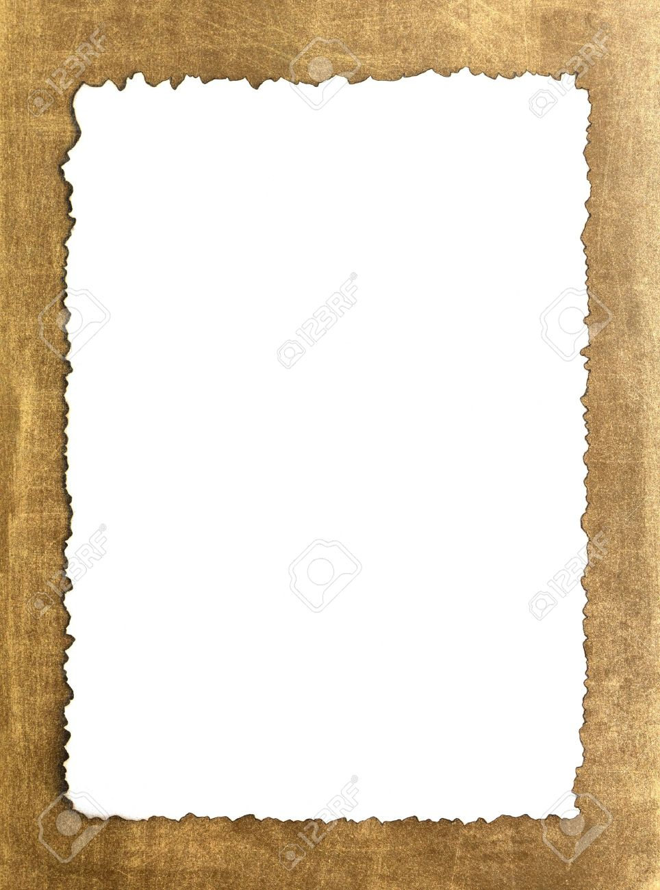 Vintage Grunge Burnt Paper On Brown Background Stock Photo Picture