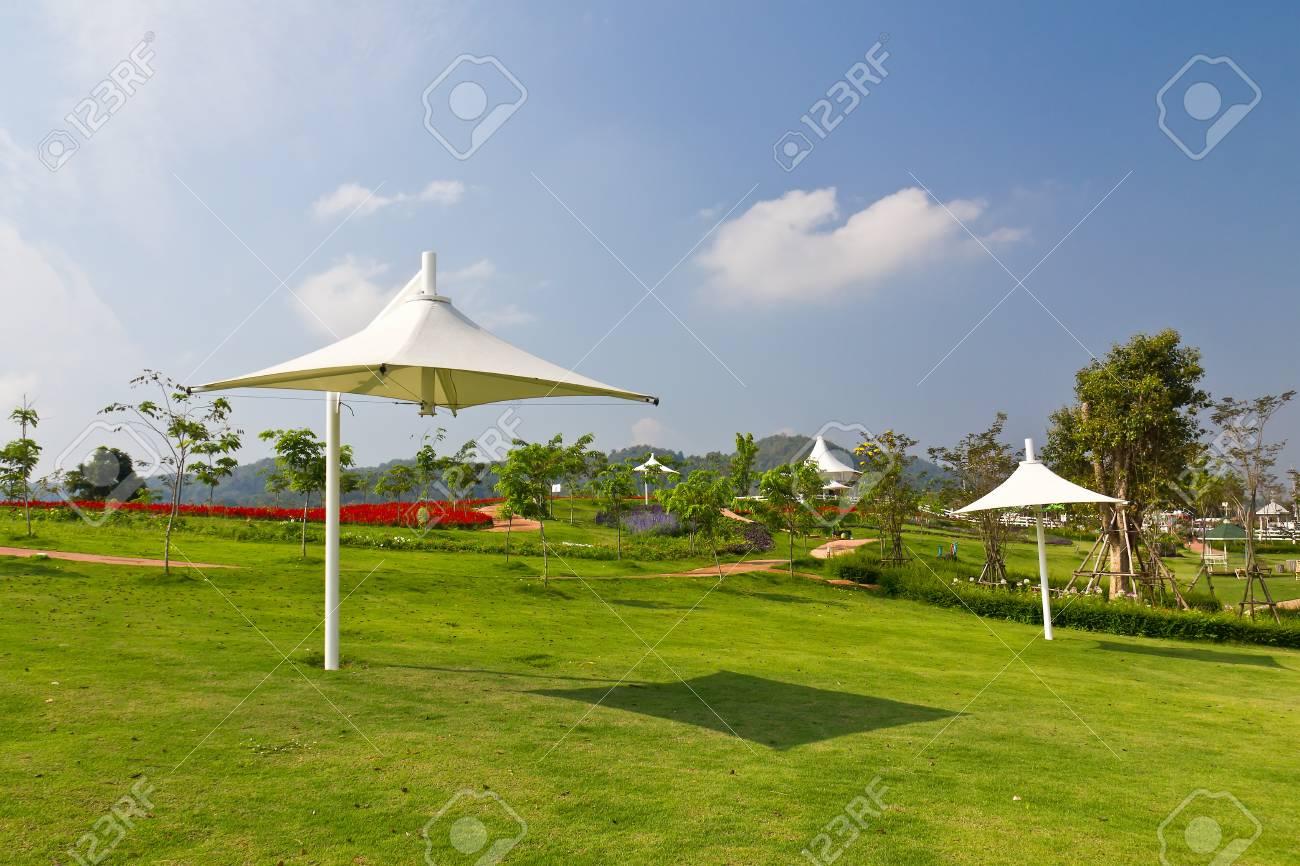 Umberla outdoor in the garden Stock Photo - 13353830