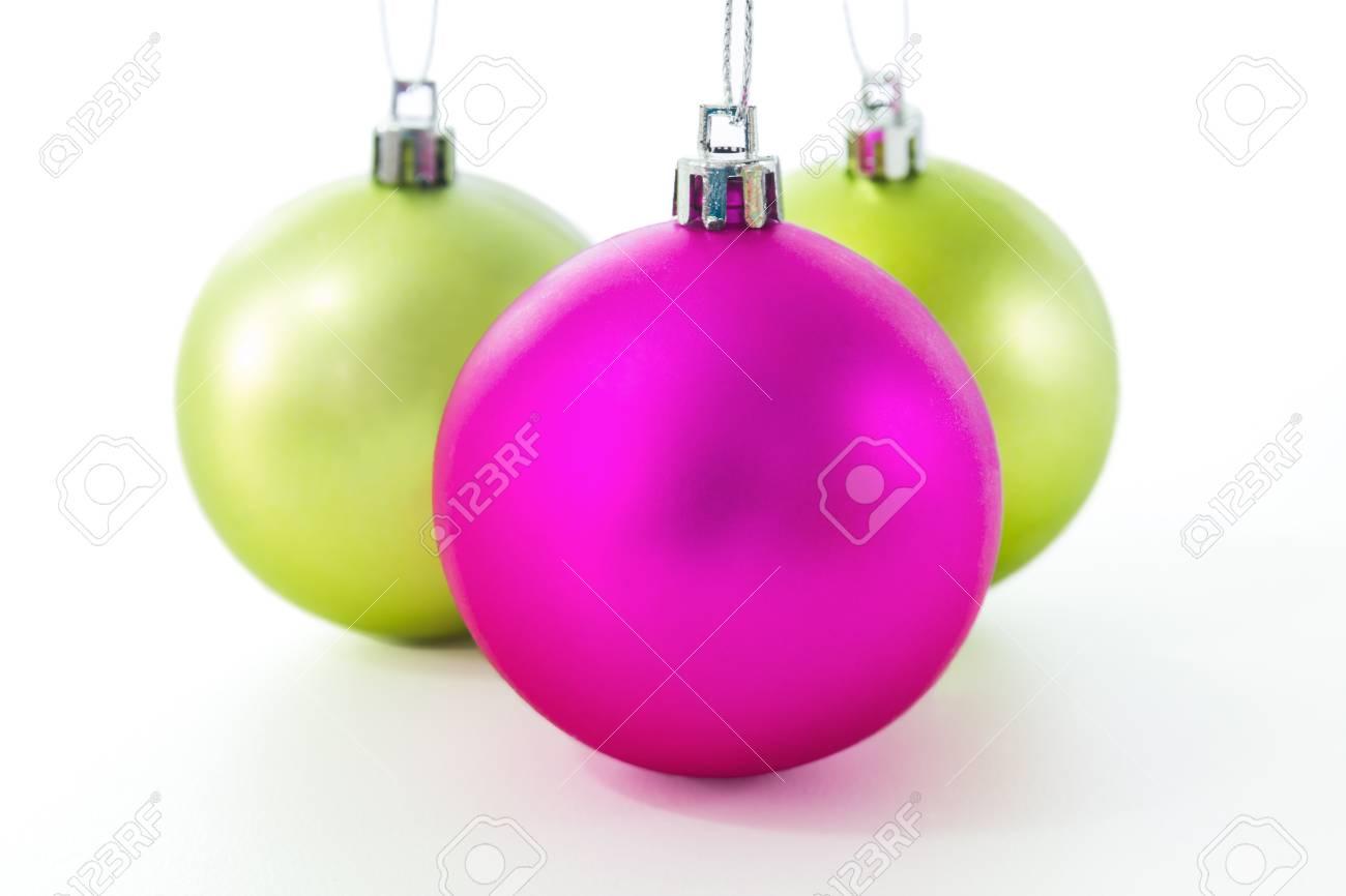 Set of Christmas balls on white background Stock Photo - 16027255