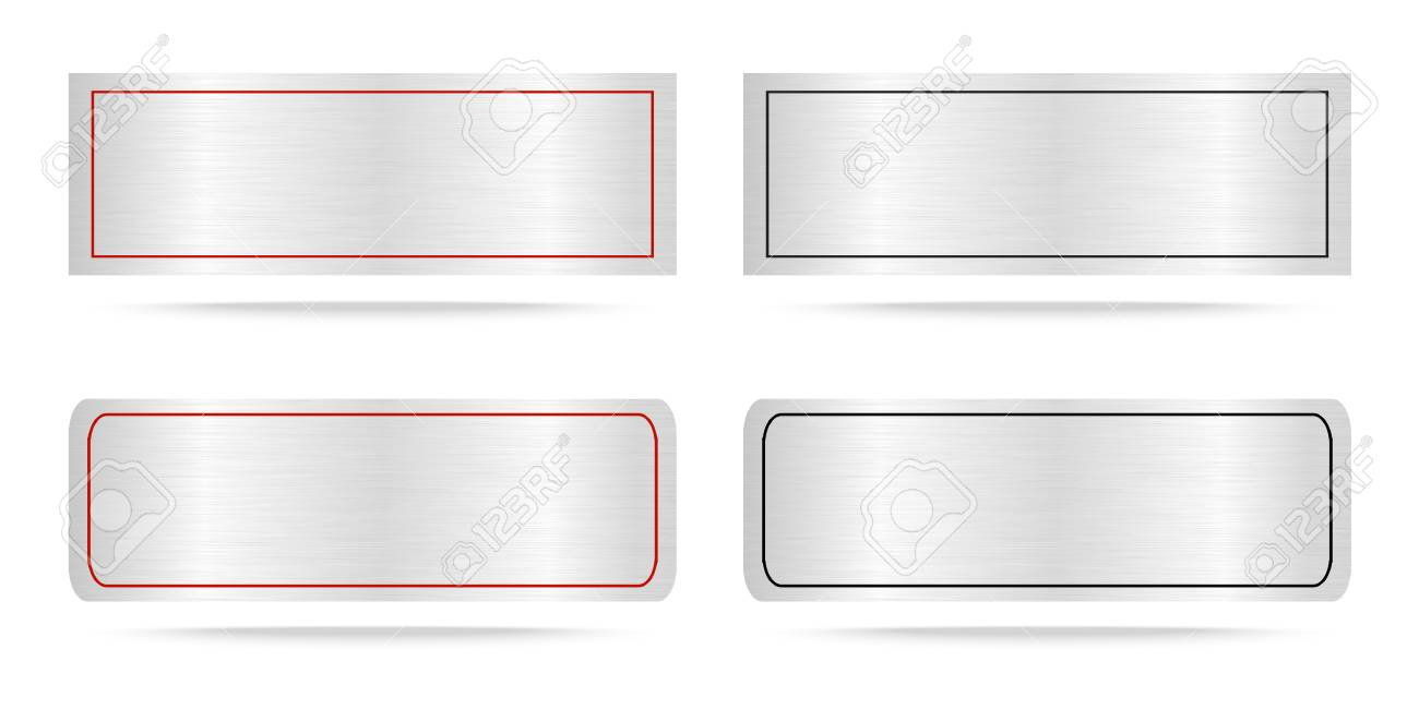 Vector Metal Name Plate Or Metallic Labels Vector Illustration Royalty Free Cliparts Vectors And Stock Illustration Image 44849680