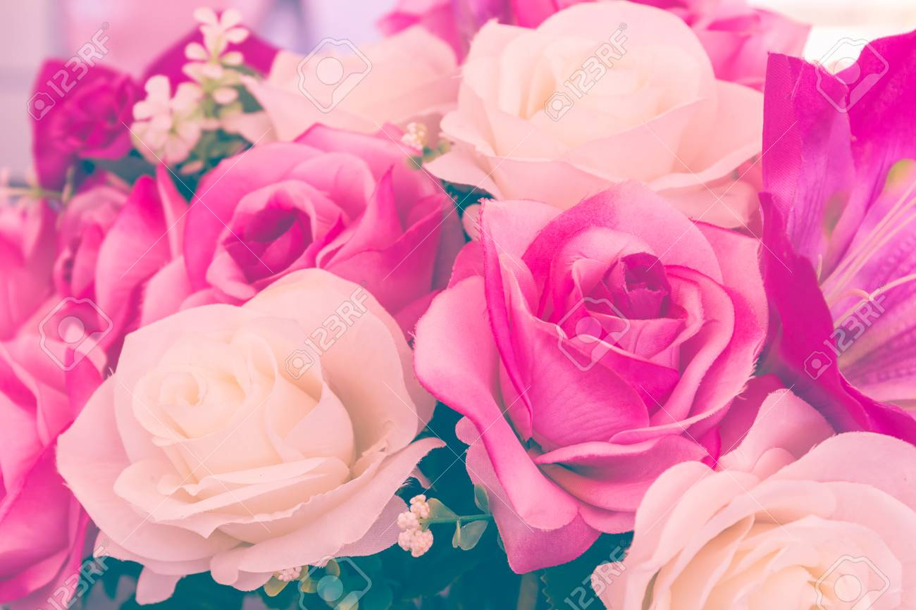 Rose Fausse Fleur Fausse Fleur A La Main Fleurs A Coudre Lot De