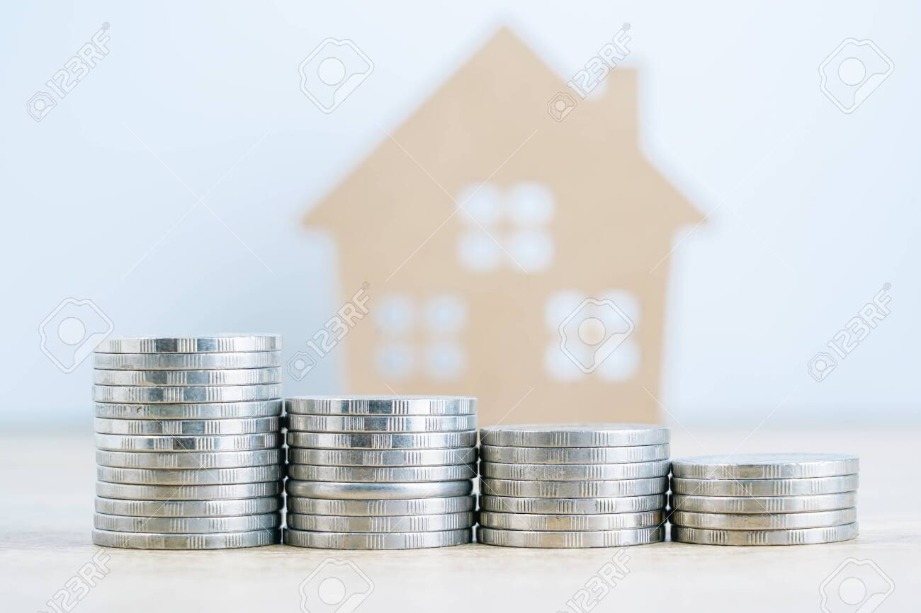 House model and and credit card on table for finance and banking concept - 152311300
