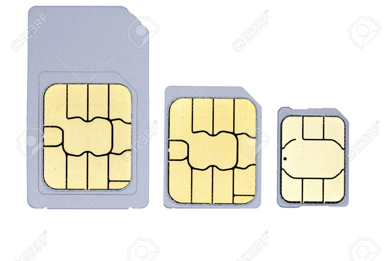 A Close Up Picture Of One Mini Sim One Micro Sim And One Nano Sim