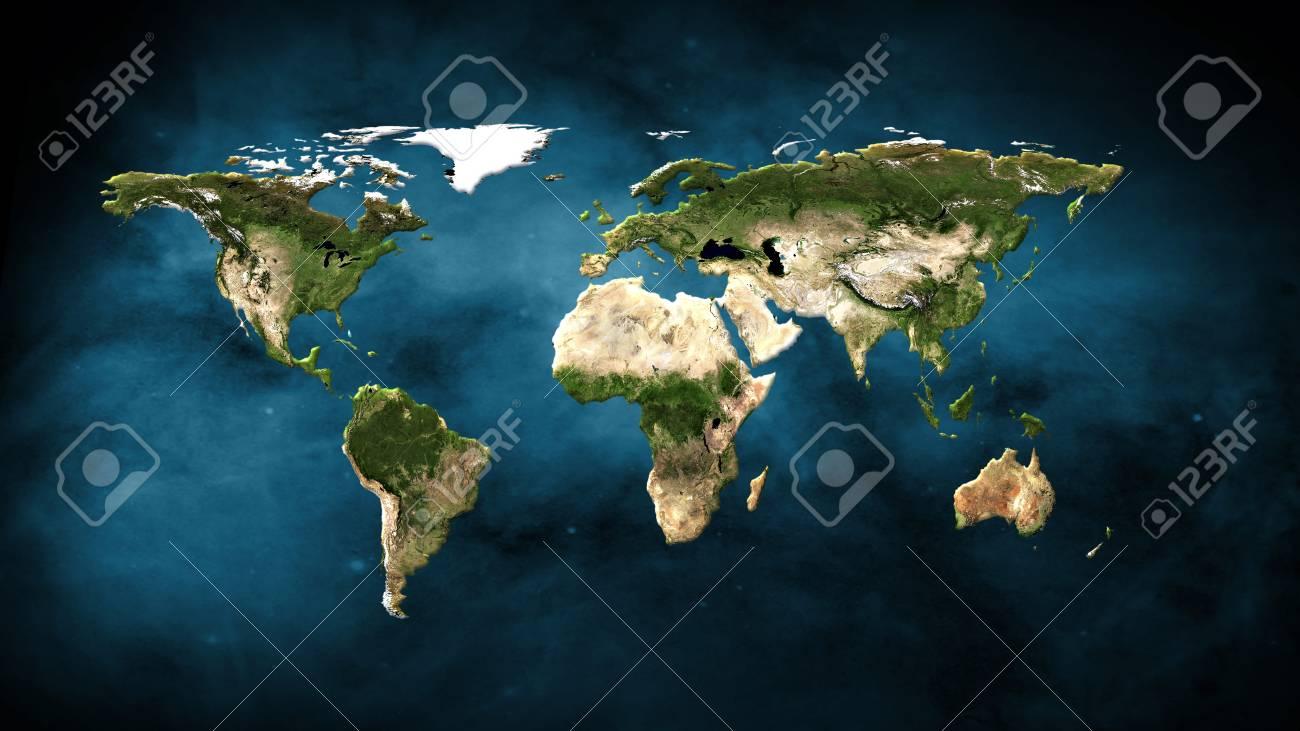 Physical world map illustration stock photo picture and royalty physical world map illustration stock illustration 94494768 gumiabroncs Image collections
