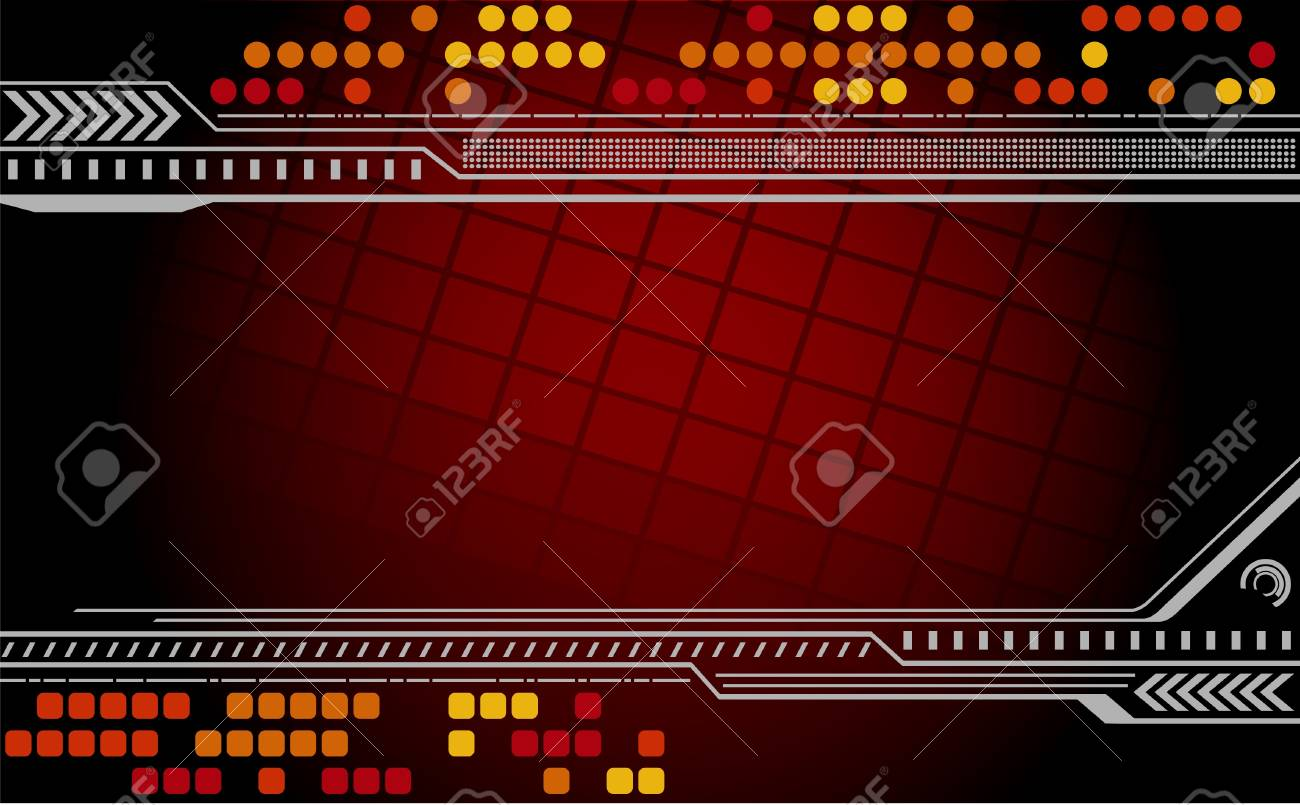 Abstract techno background. illustration. Stock Vector - 9596931