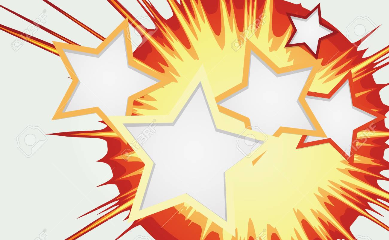 Abstract background of color star burst Stock Vector - 13295161