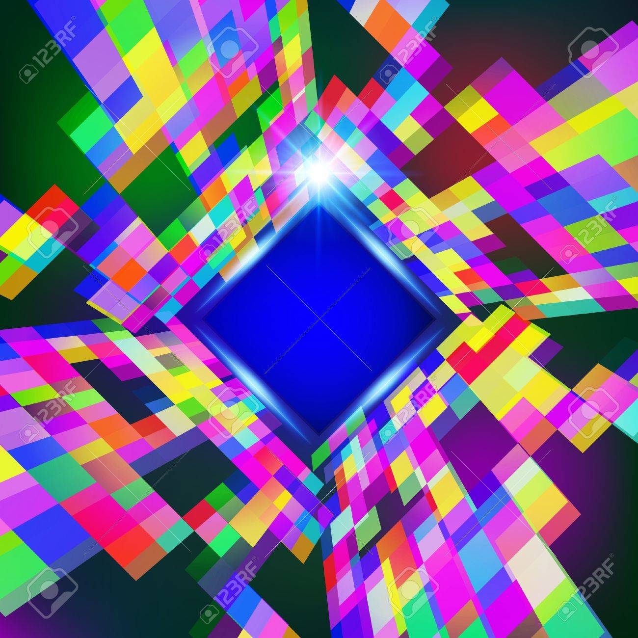 Abstract virtual space vector  background Stock Vector - 16048633