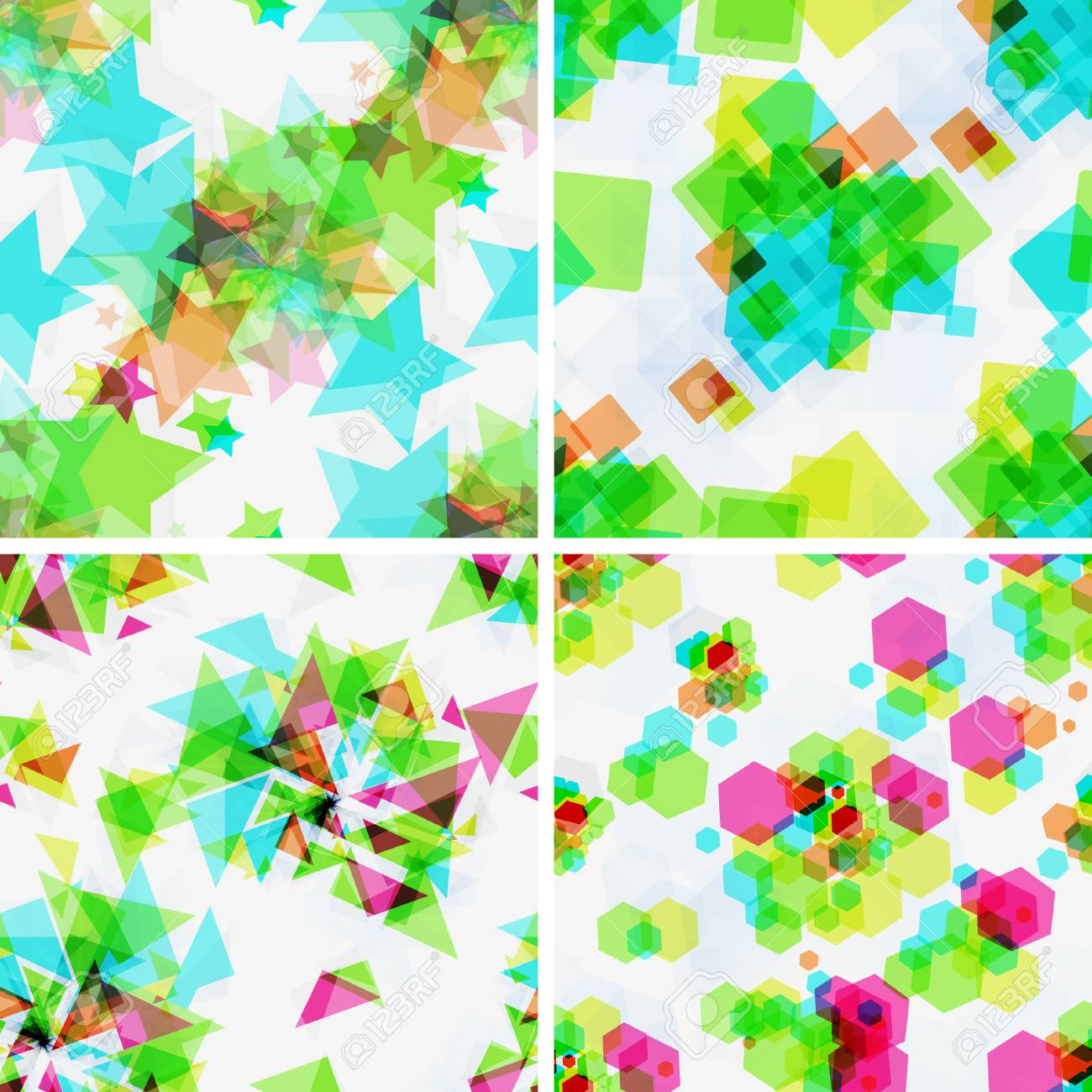 Set of vector  modern seamless patterns Stock Vector - 16269797