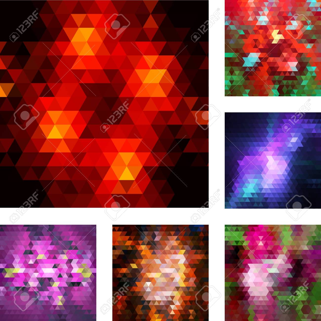 Set of vector abstract geometric backgrouns Stock Vector - 18410369