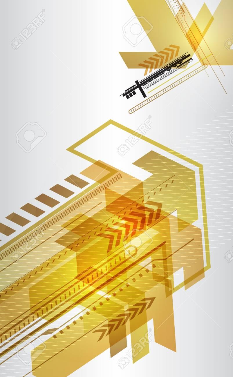 Abstract techno design with arrows Stock Vector - 18942382