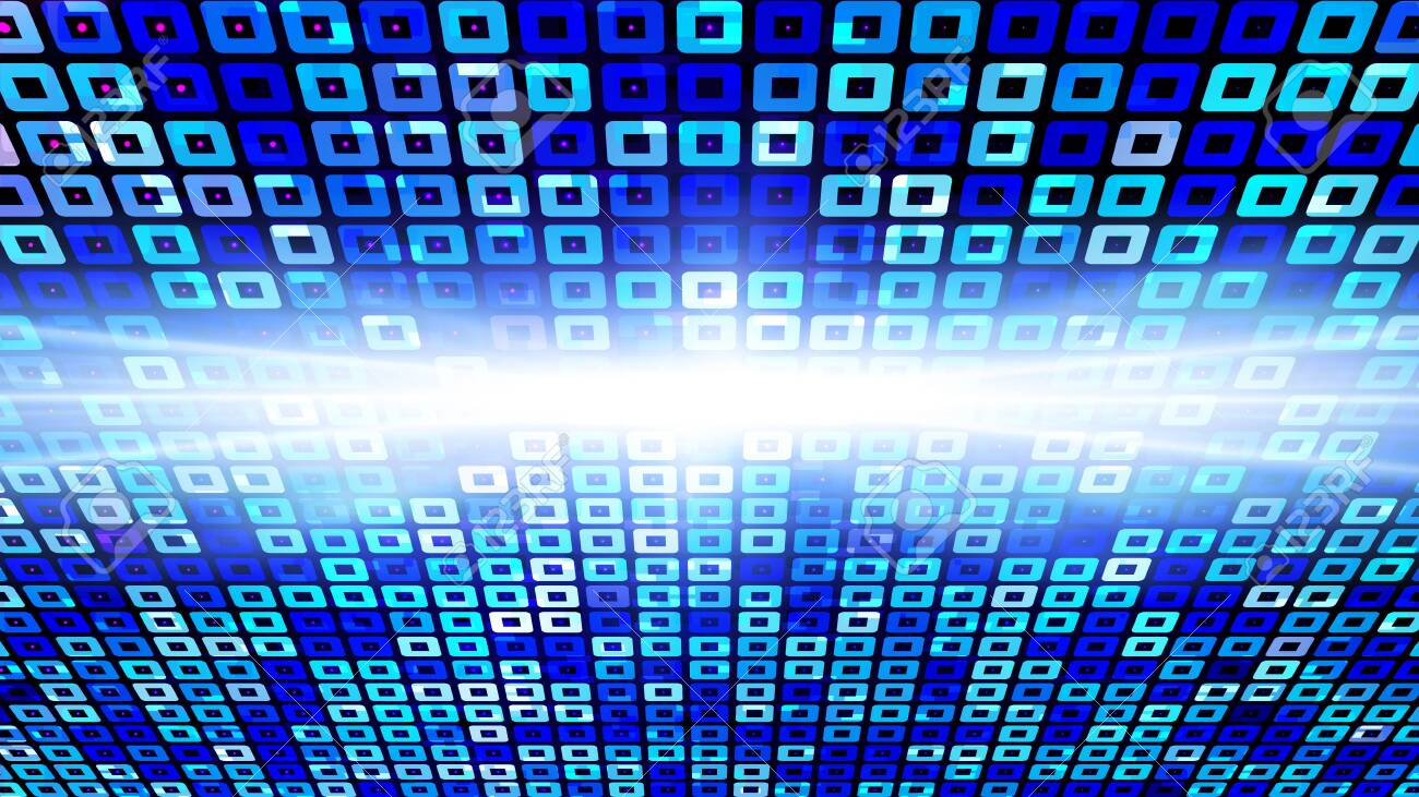 Virtual Technology Blue Color Light Abstract Background Computer Generated
