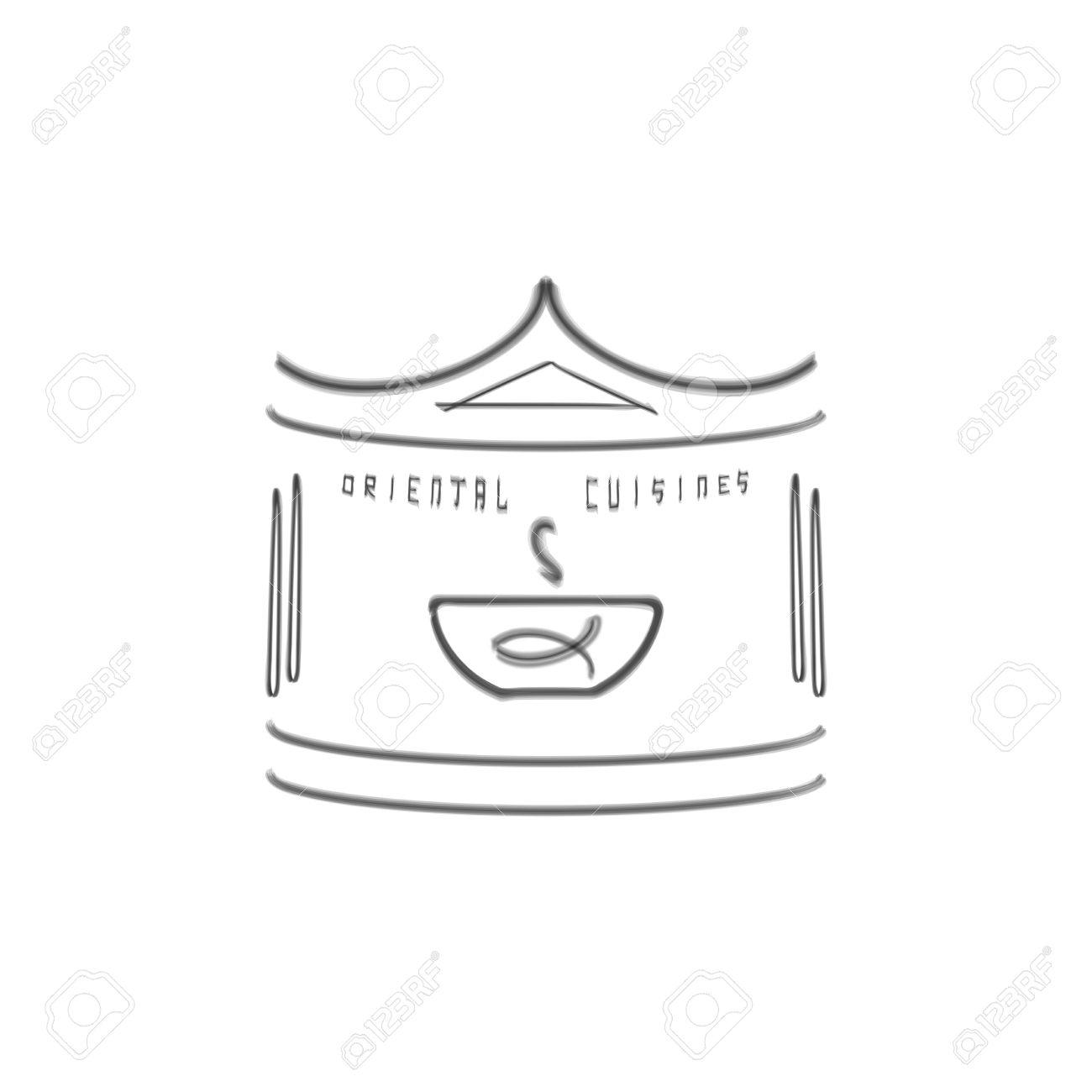 Plantilla De Logotipo Para La Cocina Oriental Negocio. Diseño étnico ...