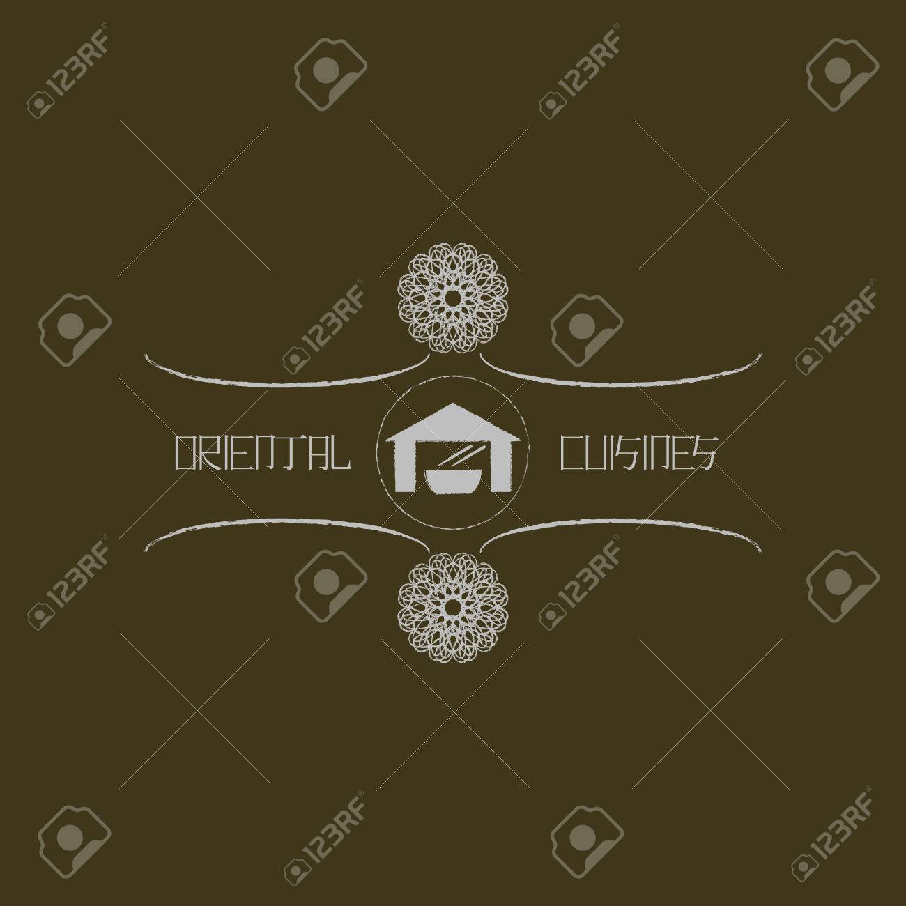 Plantilla De Logotipo Para La Cocina Oriental Negocio. Logotipo De ...