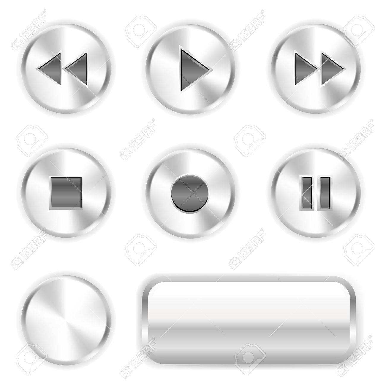 Vector player buttons. To see more go to my portfolio... Stock Vector - 5183720