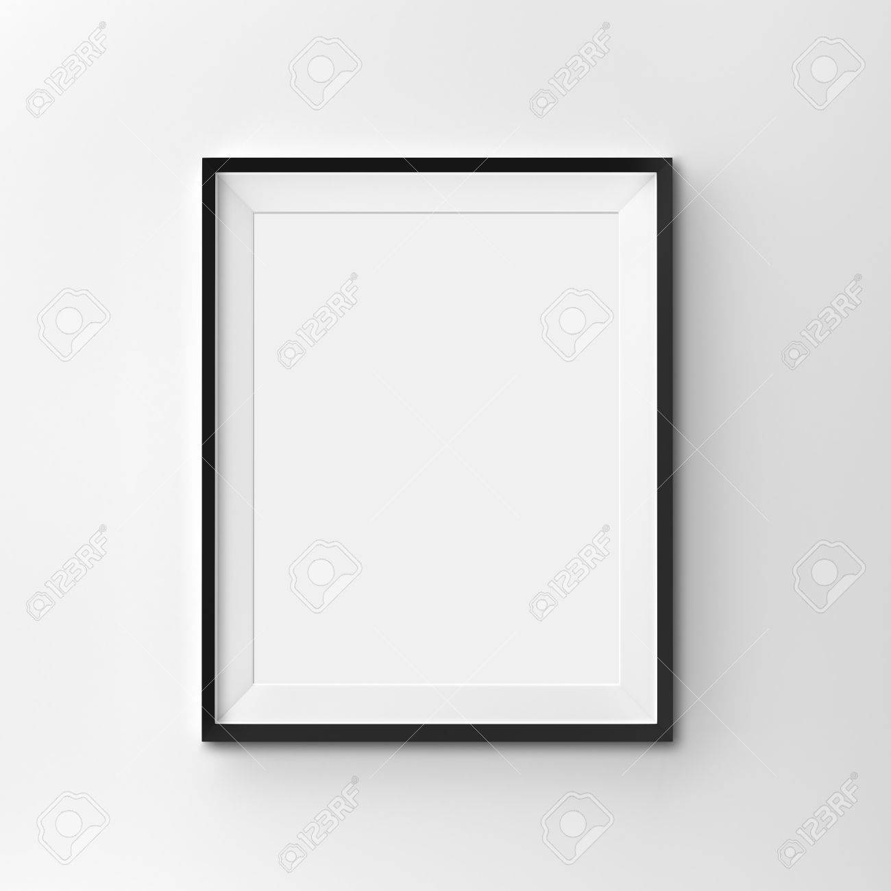 White Blank Frame On Clean Background Stock Photo, Picture And ...