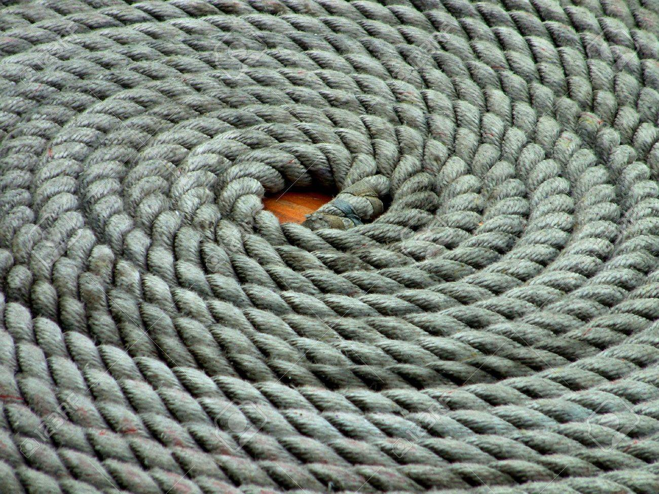 Sailing Yacht Rope Coil Stock Photo - 11945070