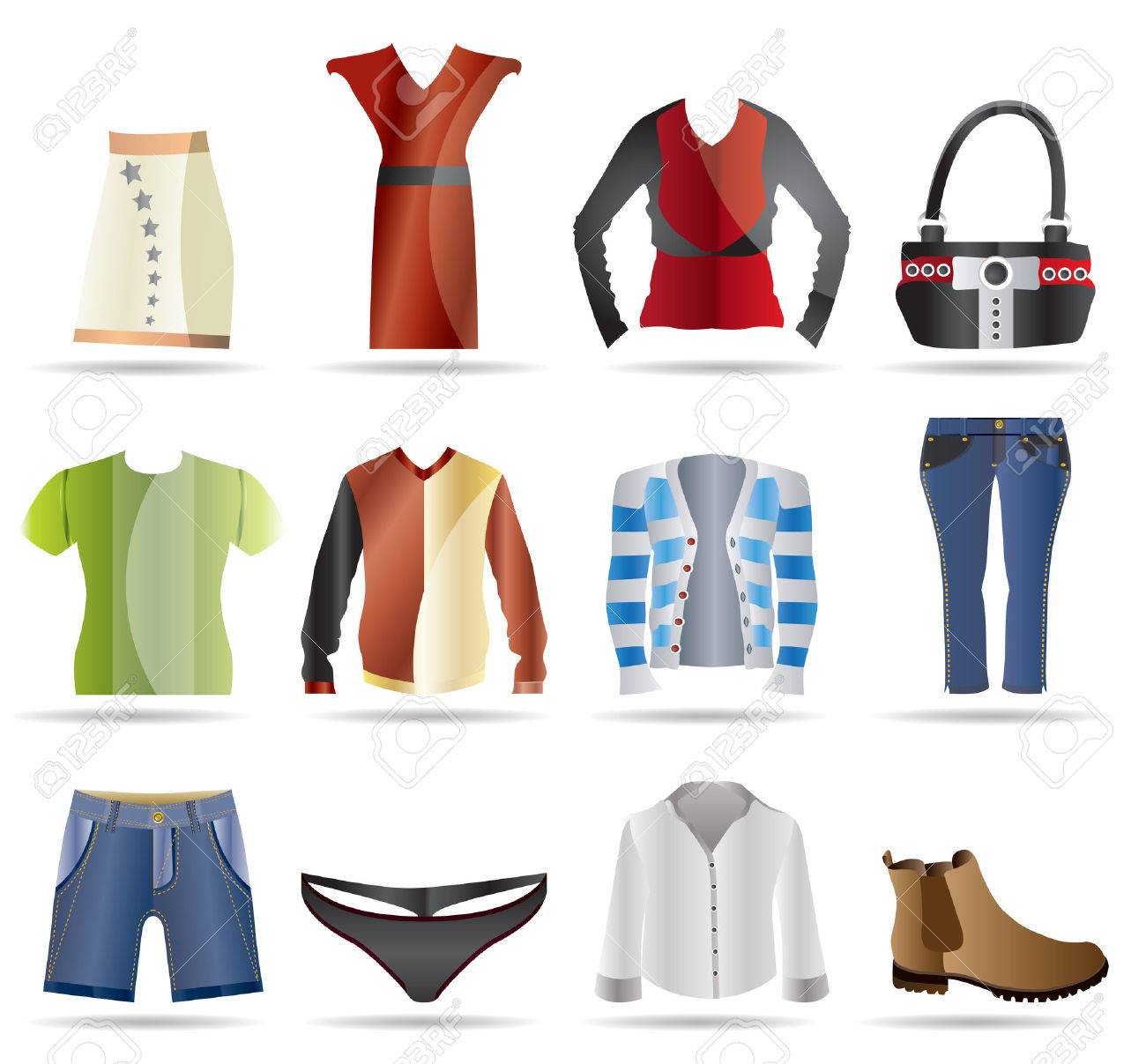 Clothing Icons - Vector Icon Set Stock Vector - 4572098