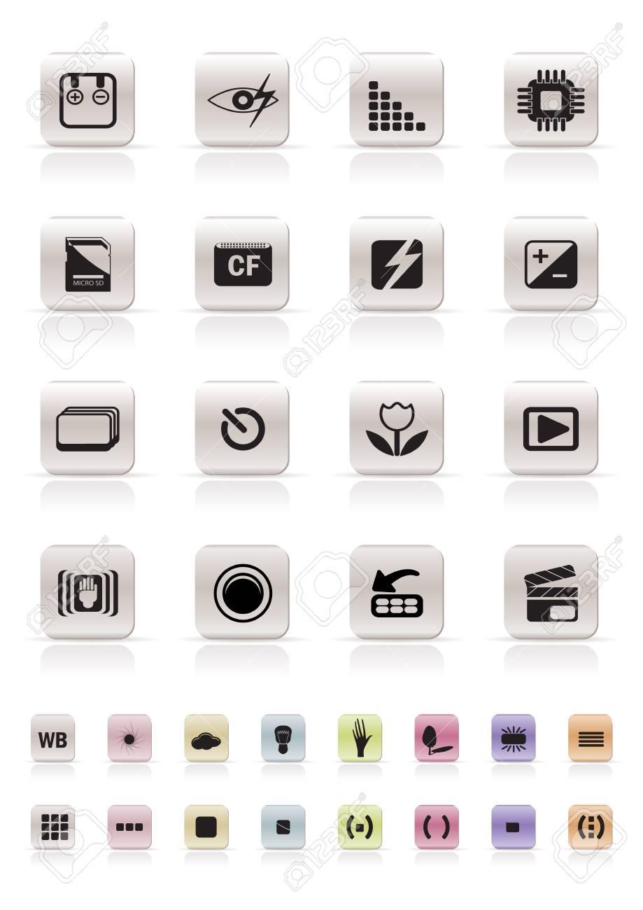 Digital Camera  Performance - Vector Icon Set Stock Vector - 4909420