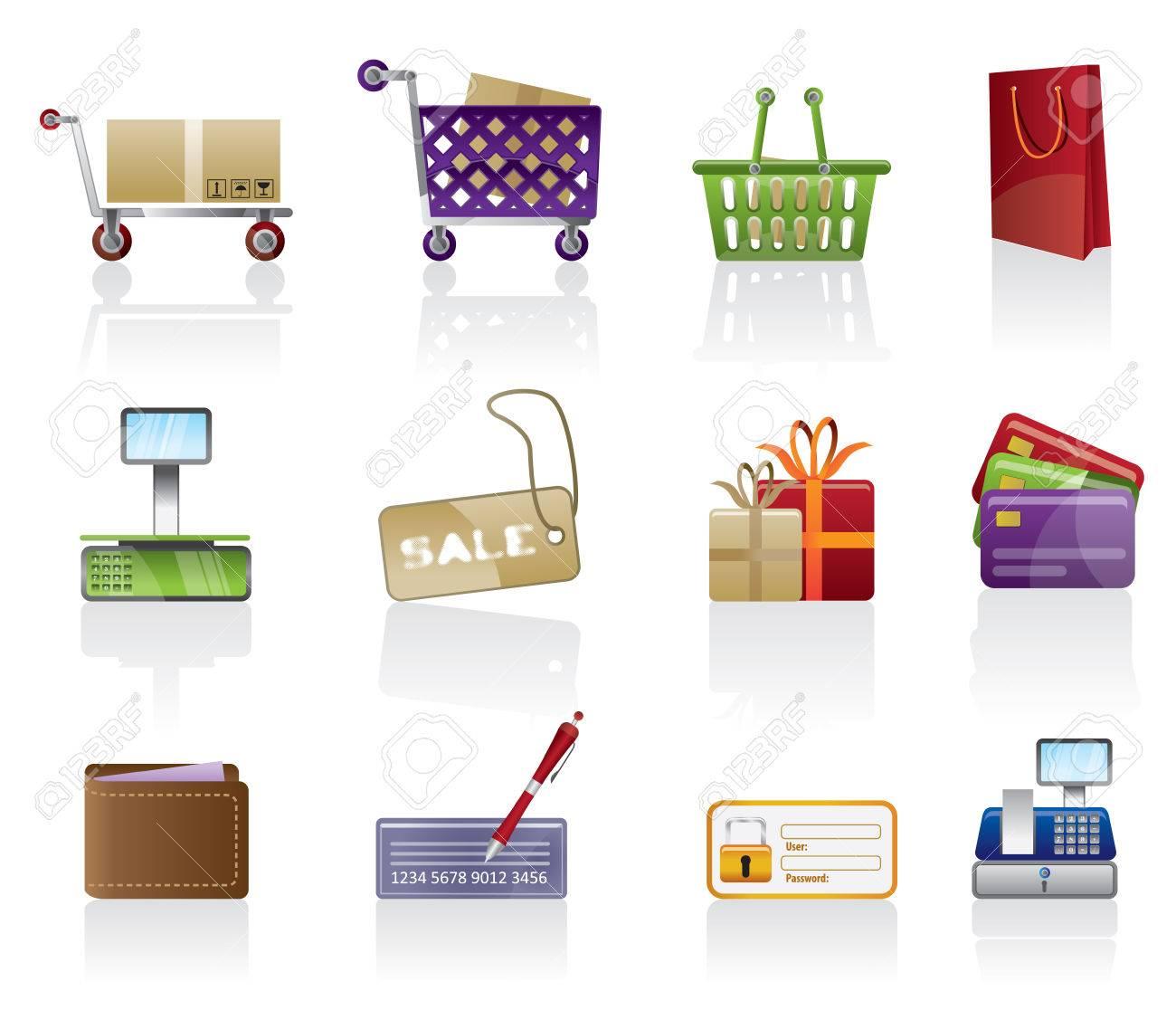 Shop icon set Stock Vector - 4966550