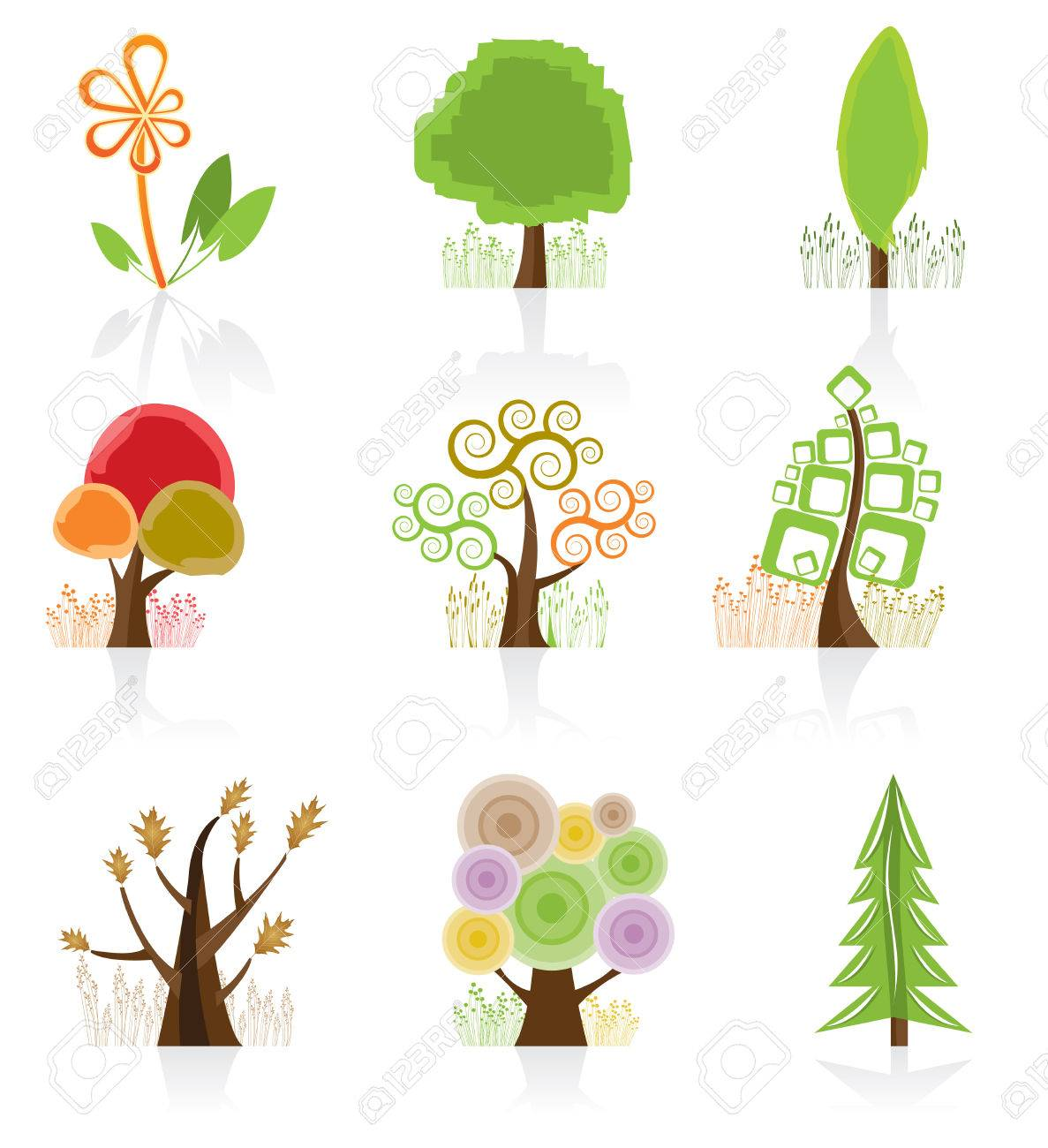 Tree Collection Stock Vector - 4966554