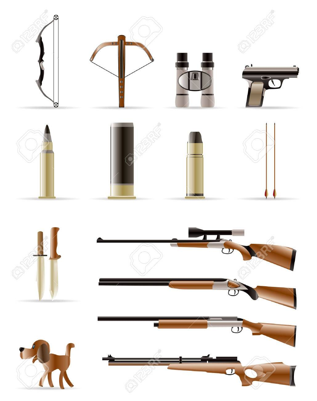 Hunting Icons - Vector Icon Set Stock Vector - 5014181