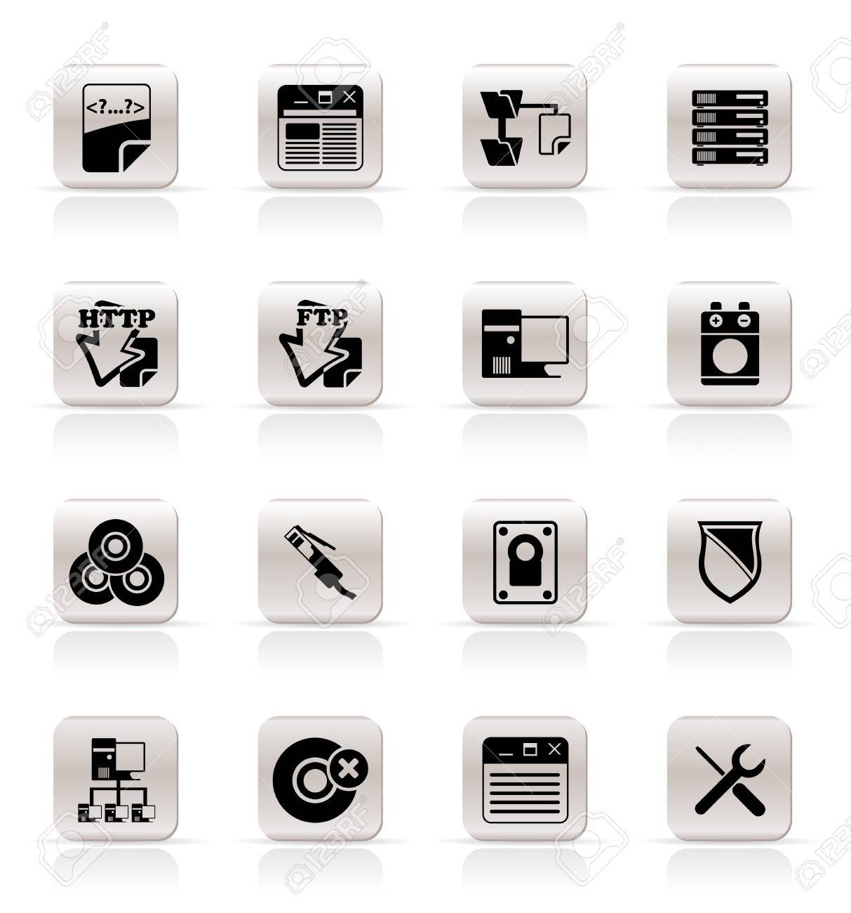Simple Server Side Computer icons - Vector Icon Set Stock Vector - 5333292