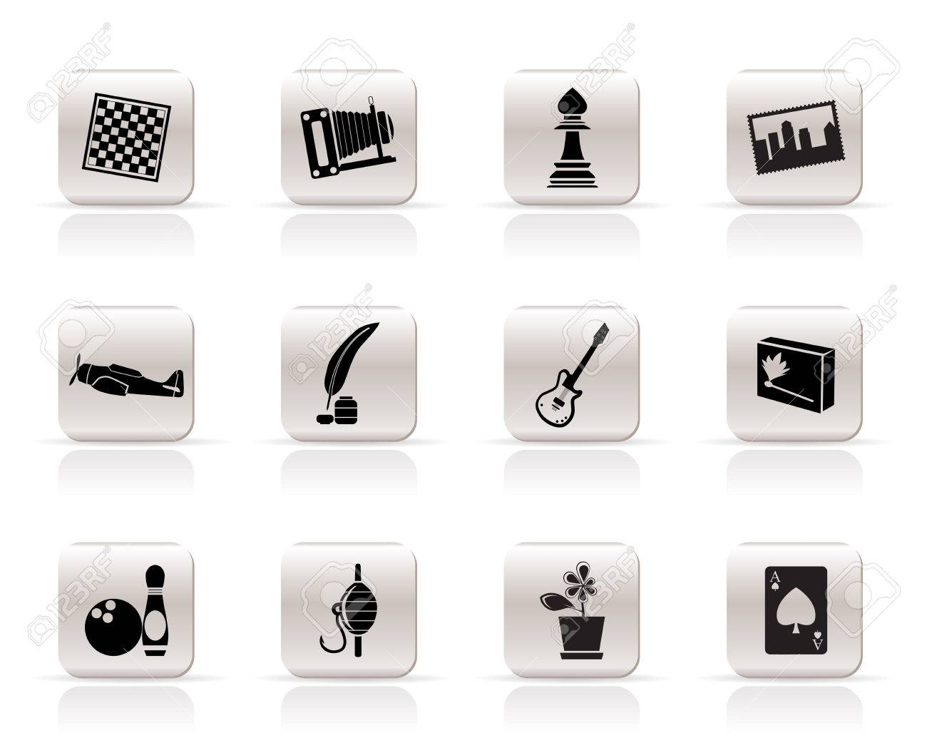 Simple Hobby, Leisure and Holiday Icons - Vector Icon Set Stock Vector - 5333289