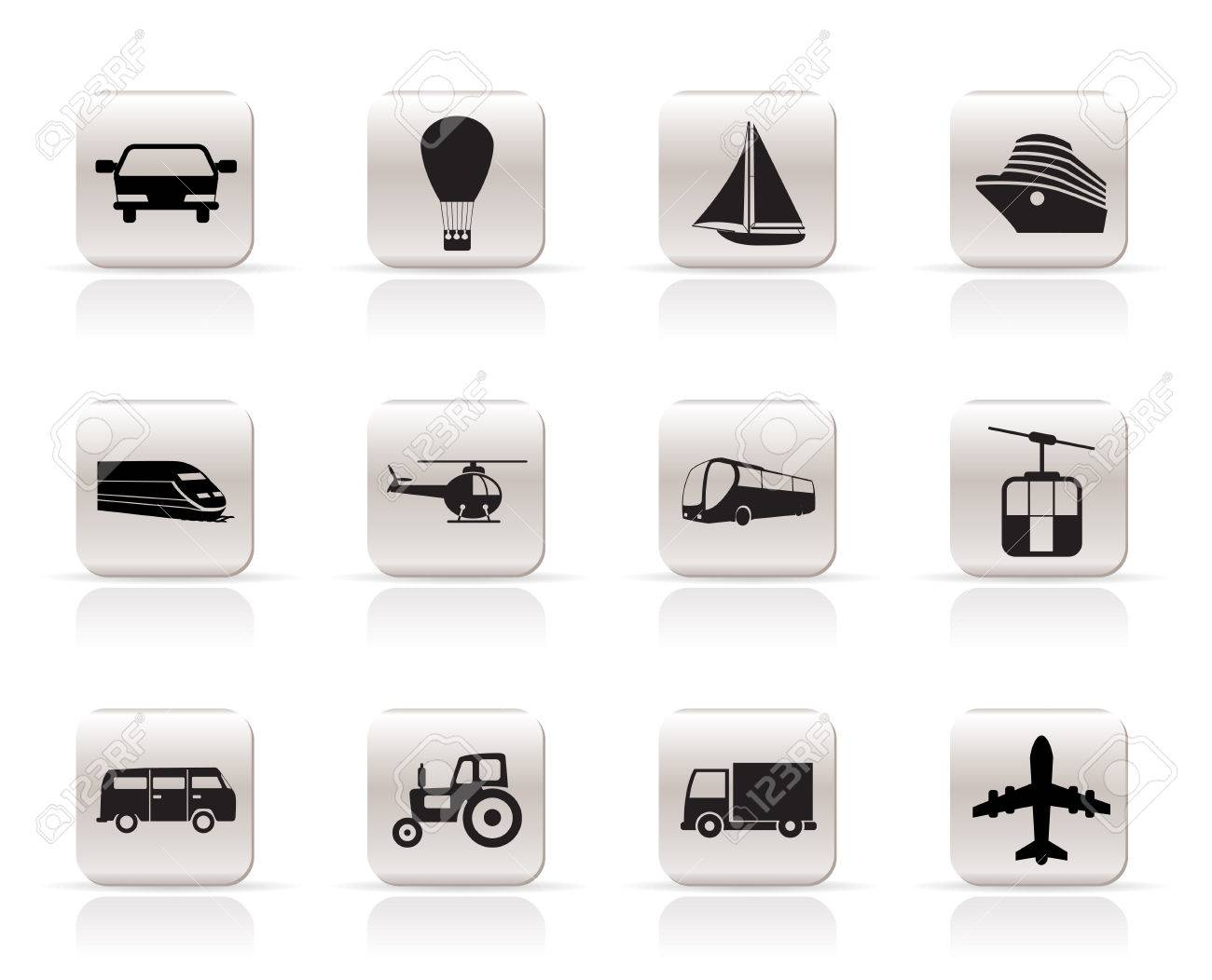 Simple Transportation and travel icons - vector icon set Stock Vector - 5333303
