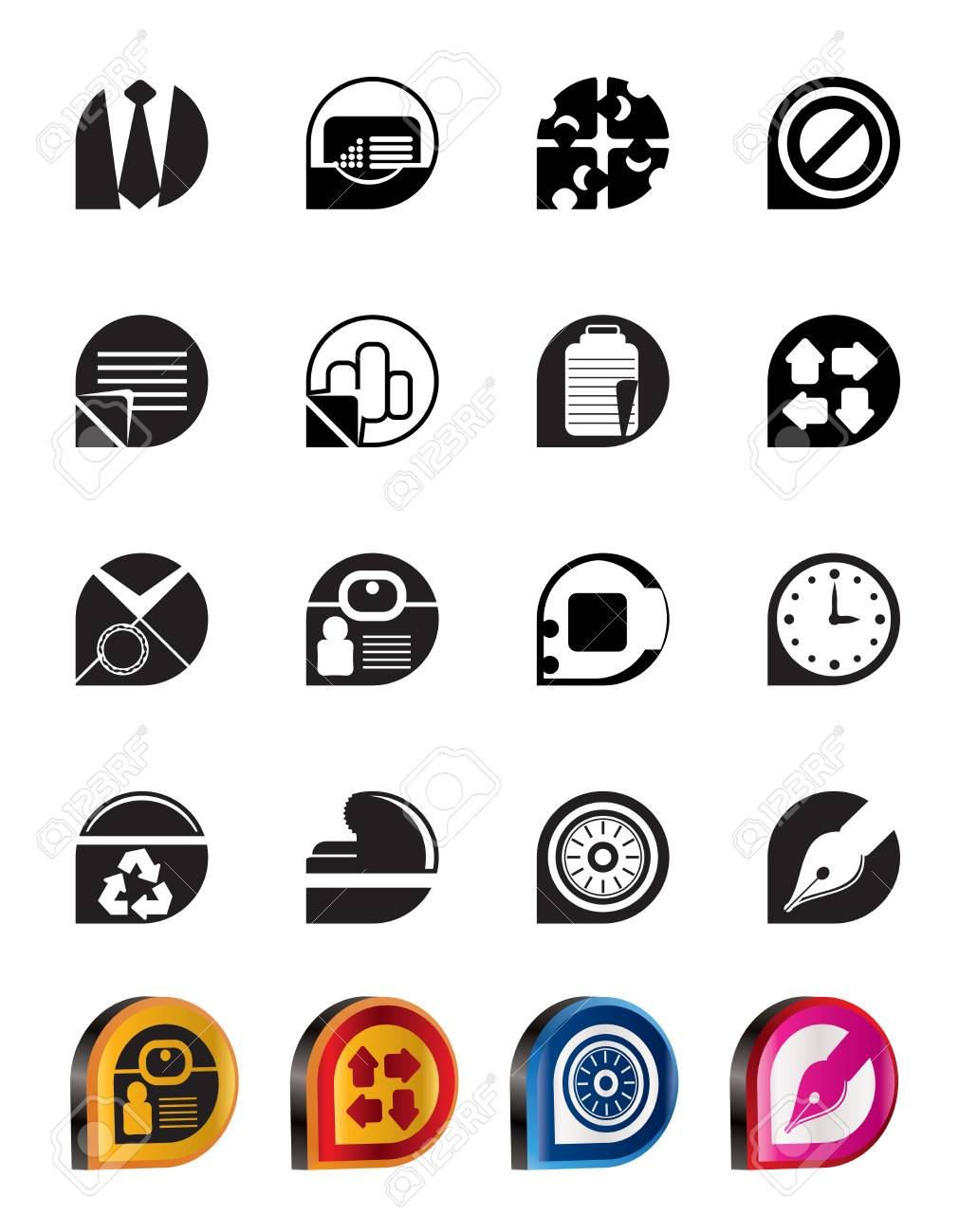 Simple Business and Office Icons - vector icon set Stock Vector - 5377146