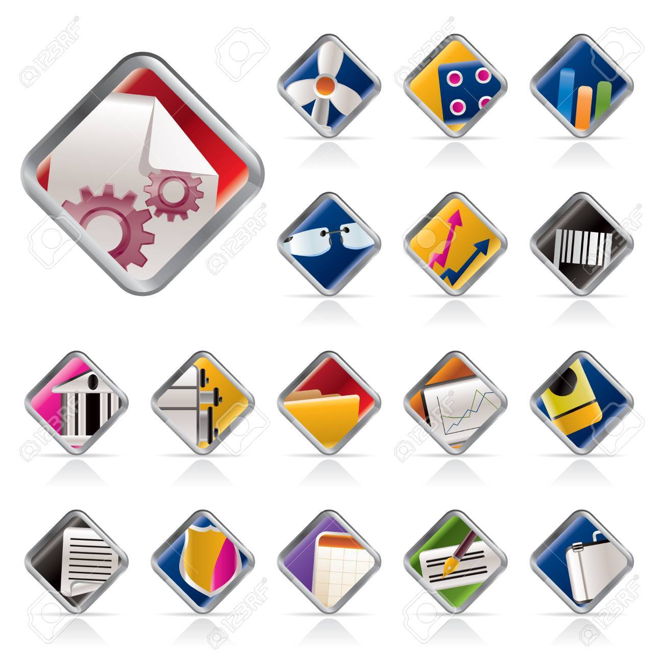 Realistic Business and Office Icons - Vector Icon Set 2 Stock Vector - 5408875