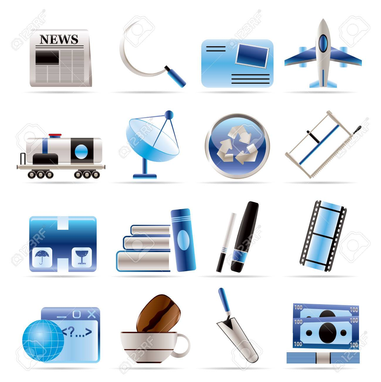 Business and industry icons - Icon set Stock Vector - 5666396
