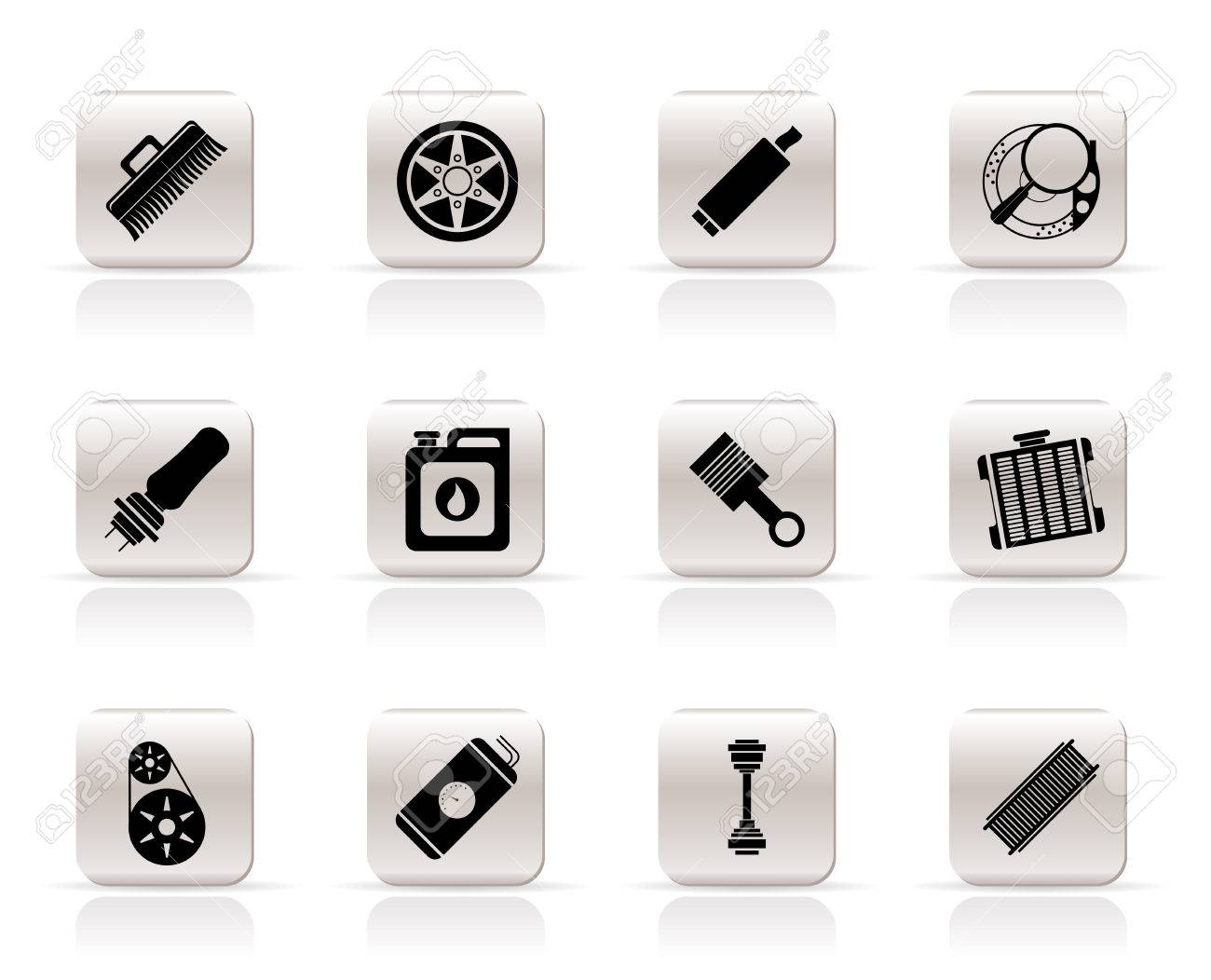 Realistic Car Parts and Services icons - Vector Icon Set 2 Stock Vector - 5852565