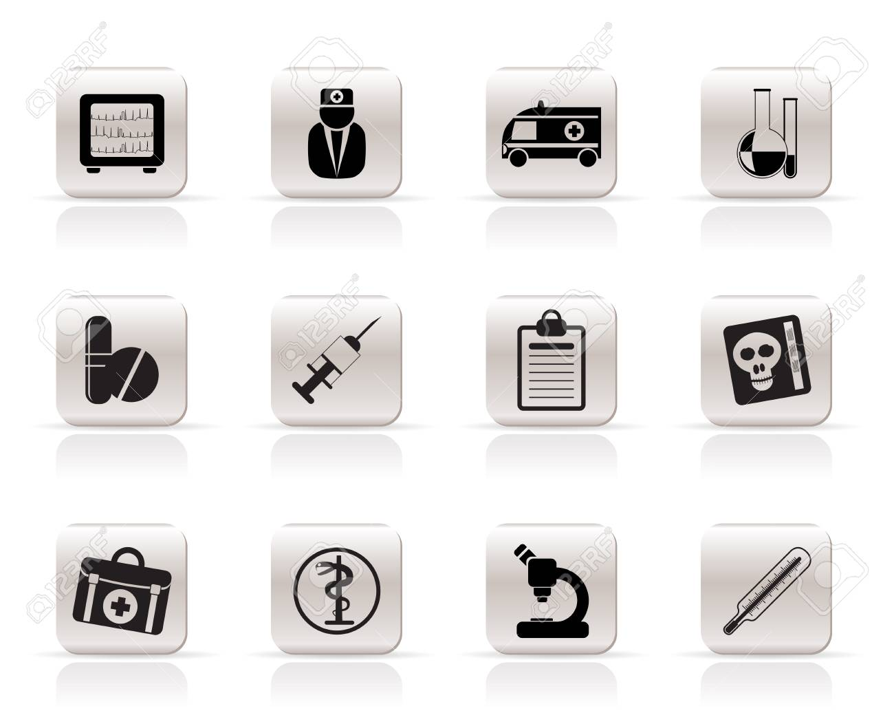 Medical and healthcare Icons Vector Icon Set Stock Vector - 5852569