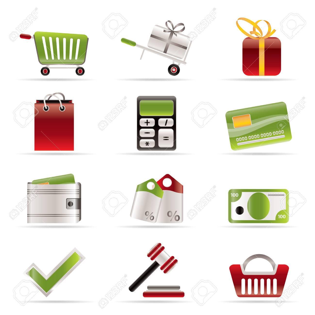 Online shop icons - vector  icon set Stock Vector - 5915410