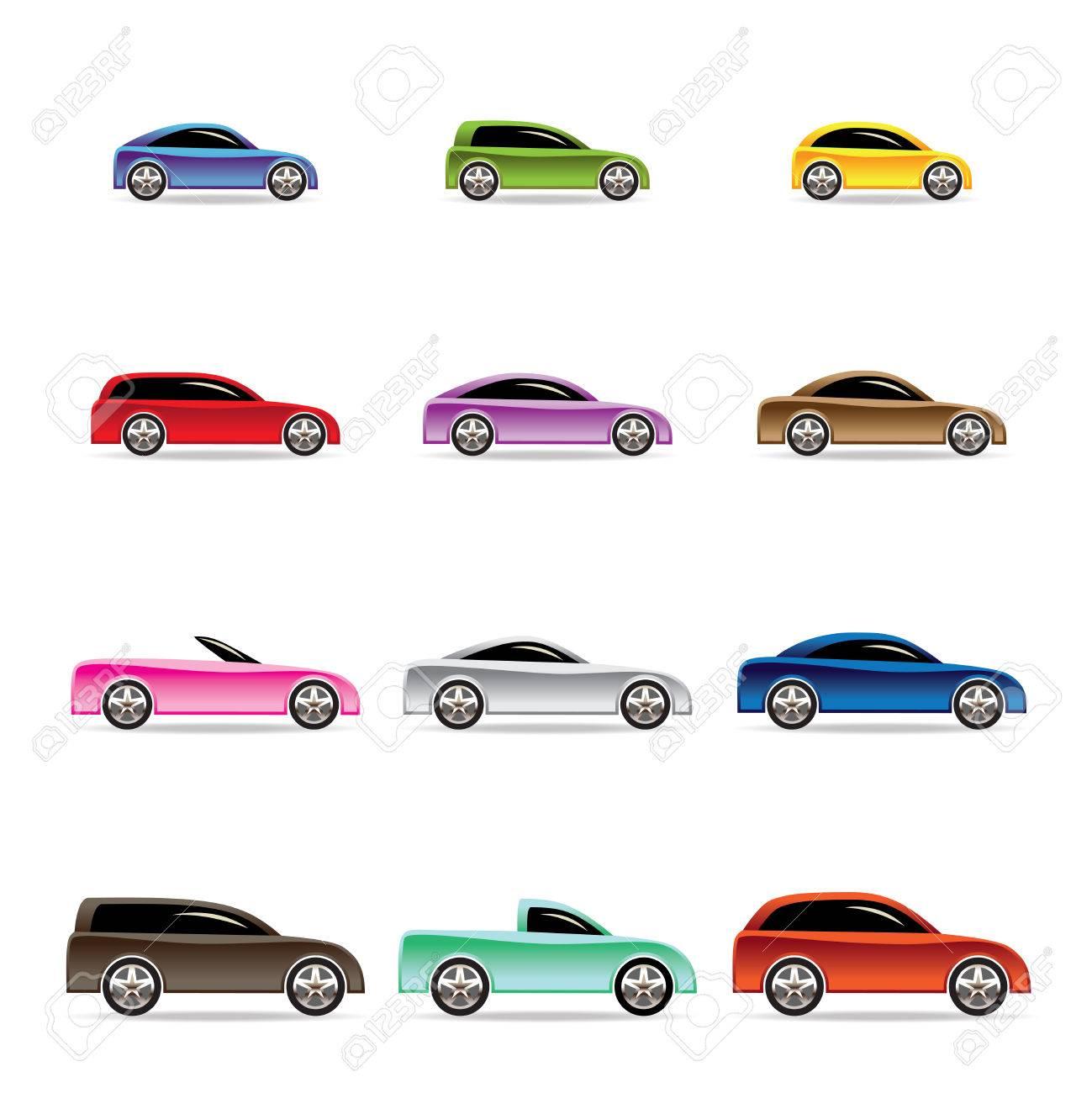 Different Types Of Cars >> Different Types Of Cars Icons Vector Icon Set