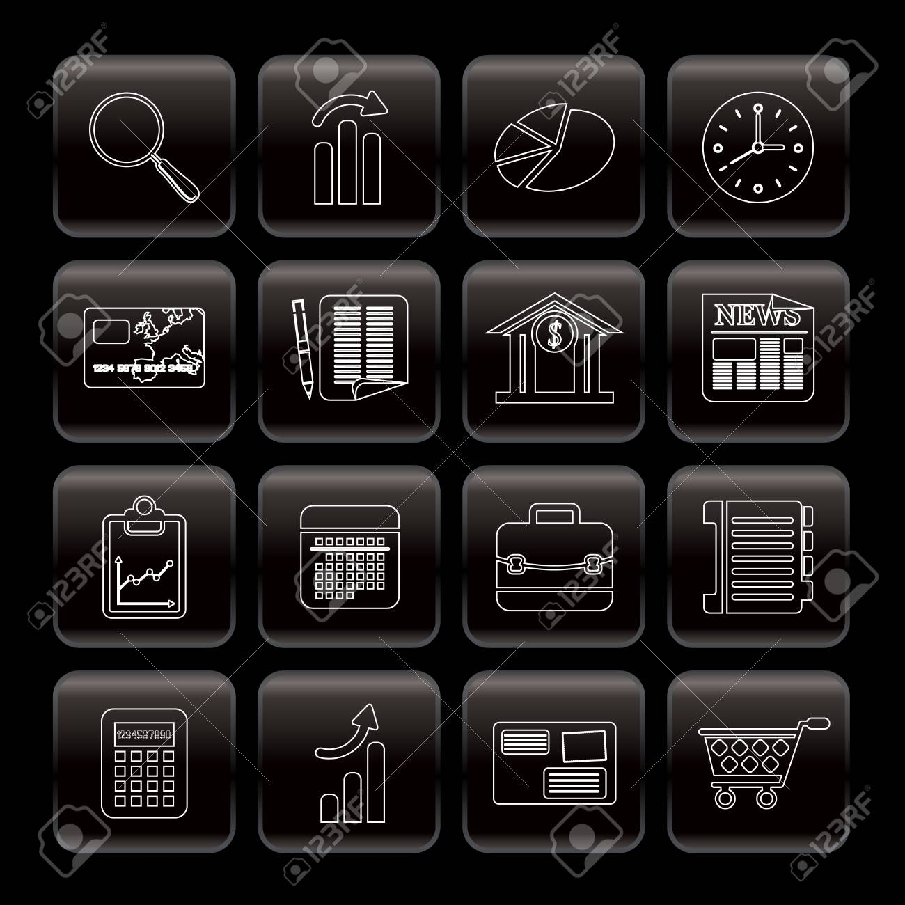 Line Business and Office  Internet Icons - Vector Icon Set 3 Stock Vector - 6025774