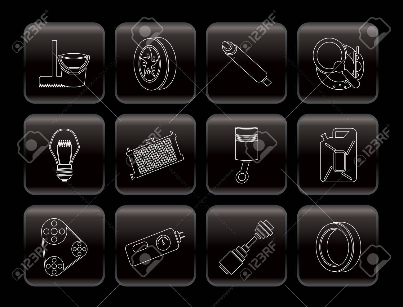 Car Parts and Services icons - Vector Icon Set 2 Stock Vector - 6082775