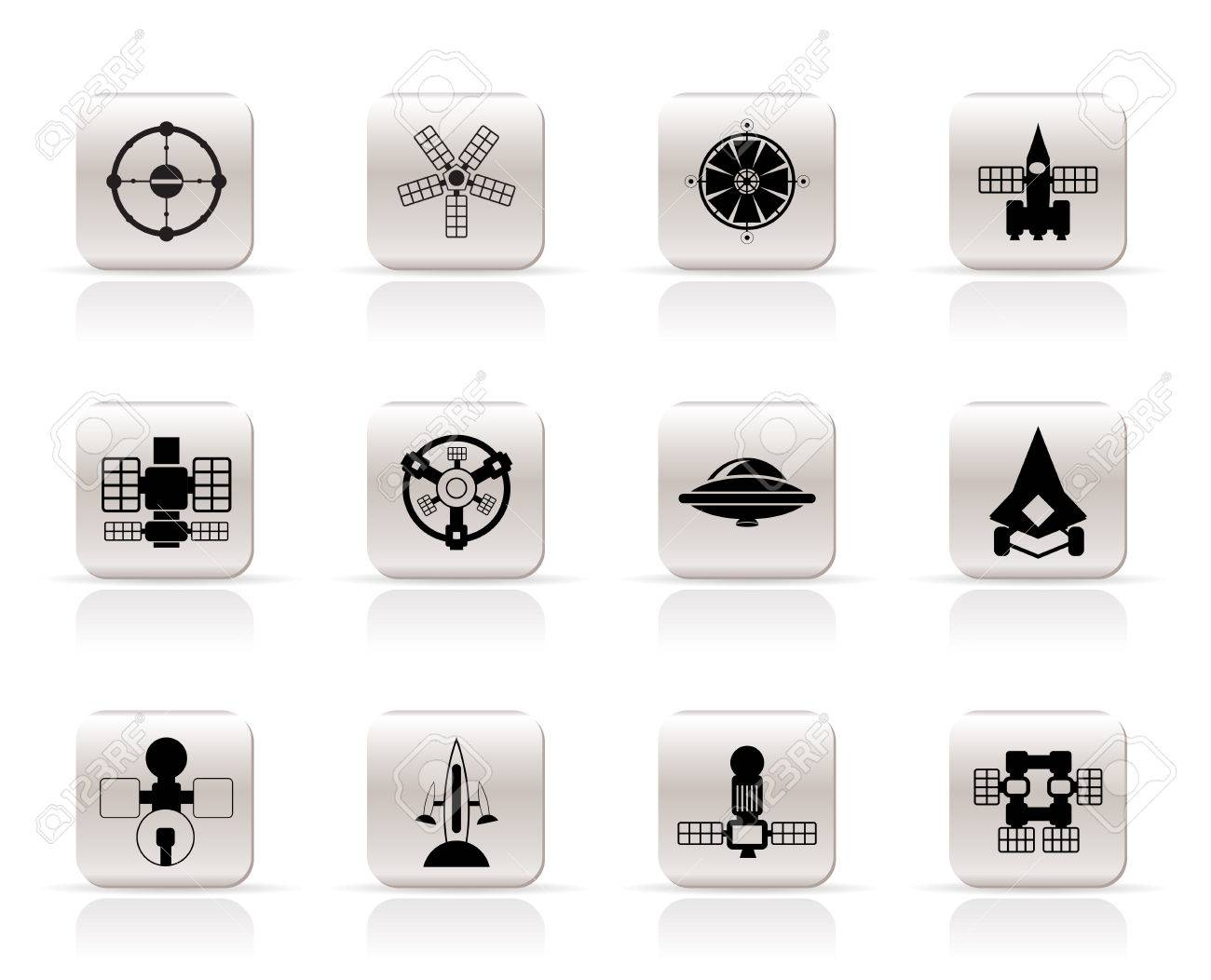 different kinds of future spacecraft icons - vector icon set Stock Vector - 6111979