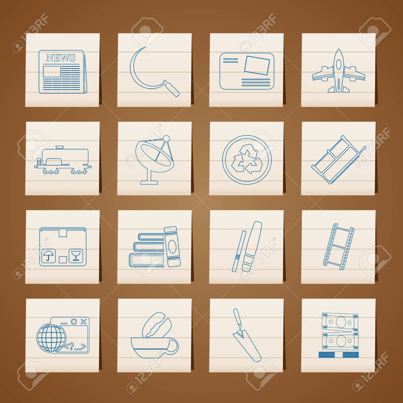 Business and industry icons Stock Vector - 6346356