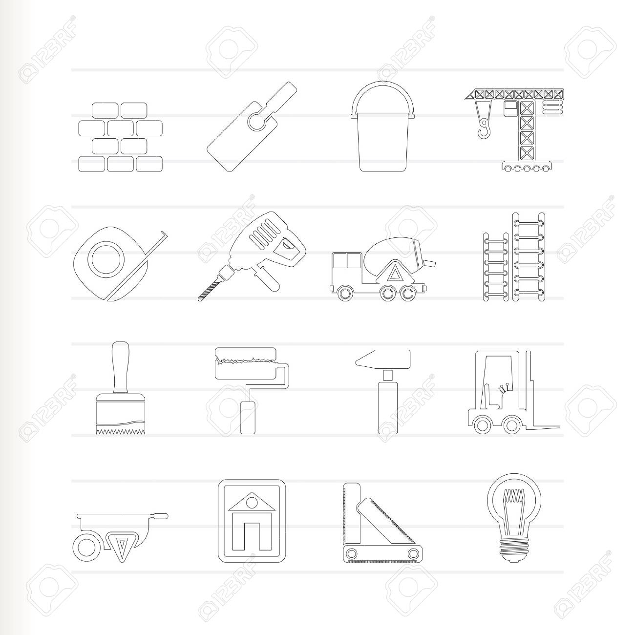 Construction and Building icons Stock Vector - 7337877
