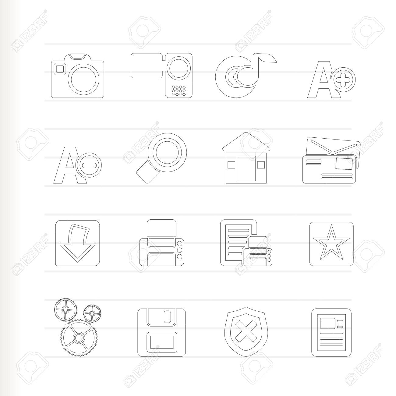 Internet and Website icons - Icon Set Stock Vector - 7479226