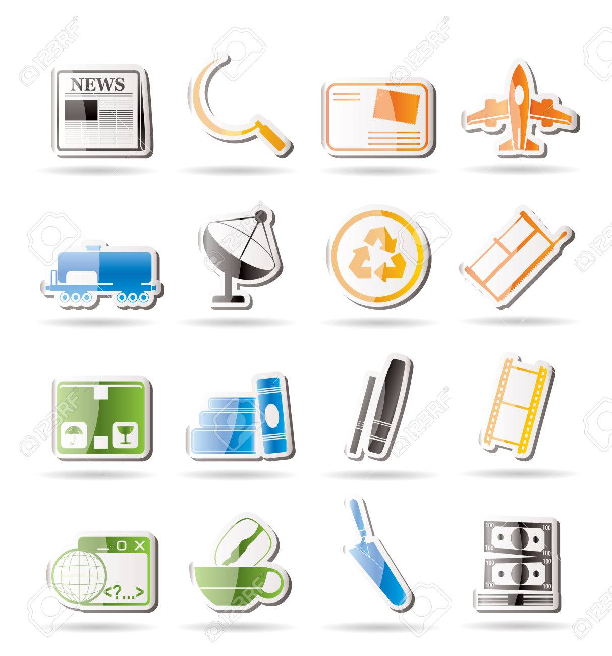 Simple Business and industry icons Stock Vector - 7816830