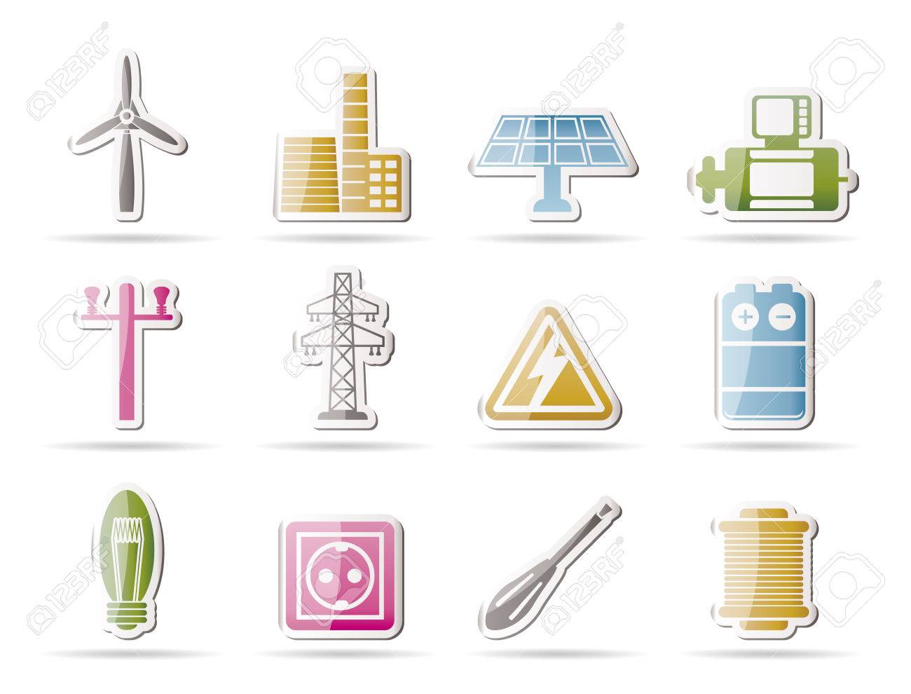 power generator icon. electricity and power icons vector icon set stock 8033139 generator