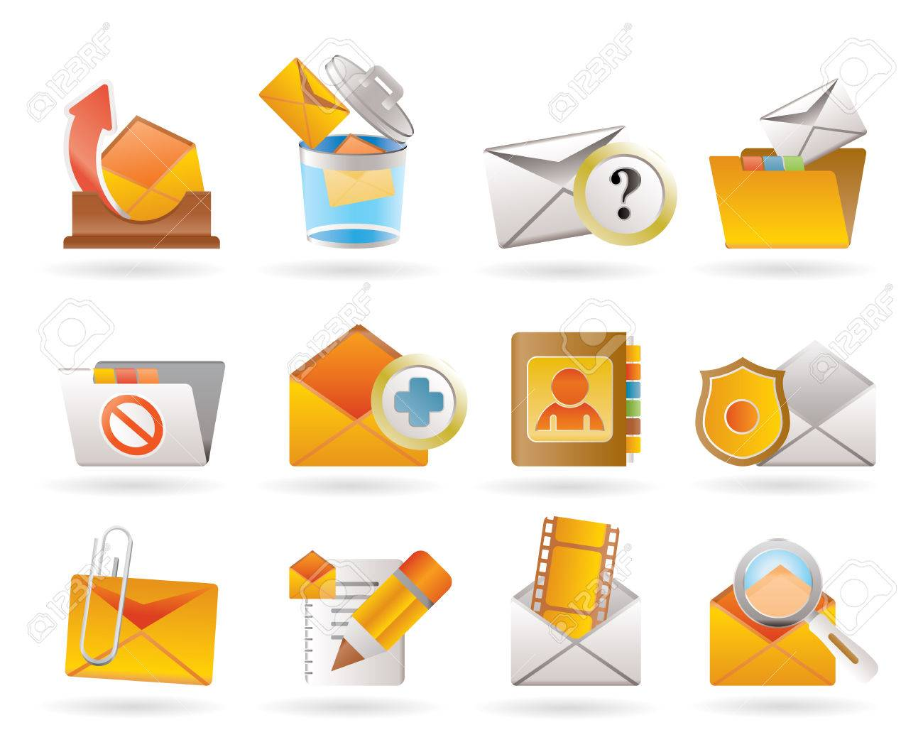 E-mail and Message Icons Stock Vector - 8372305