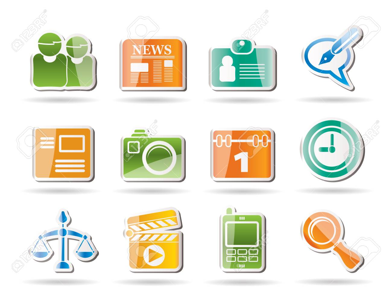 Simple Business and Office internet Icons - Vector icon Set Stock Vector - 8498973