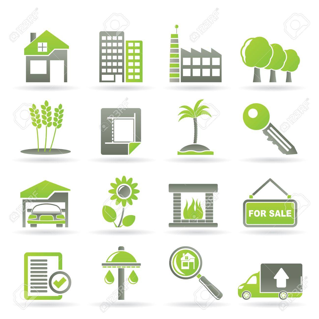 Real Estate and building icons - Vector Icon Set Stock Vector - 9534678