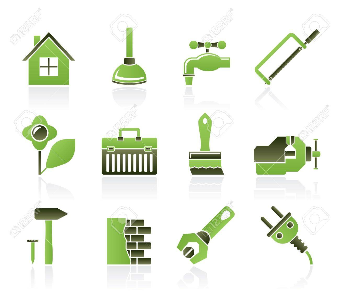 construction and do it yourself icons - vector icon set Stock Vector - 9674654